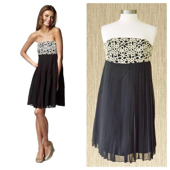 Lilly Pulitzer Jillie Pleated Silk Strapless Dress